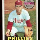 PHILADELPHIA PHILLIES CLAY DALRYMPLE CATCHING 1969 TOPPS # 151 B EX/EM