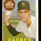 SAN DIEGO PADRES JOSE ARCIA WHITE LETTER 1969 TOPPS # 473 EX/EM