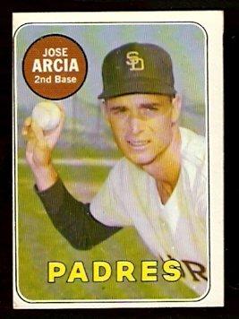 SAN DIEGO PADRES JOSE ARCIA WHITE LETTER 1969 TOPPS # 473 EX/EM