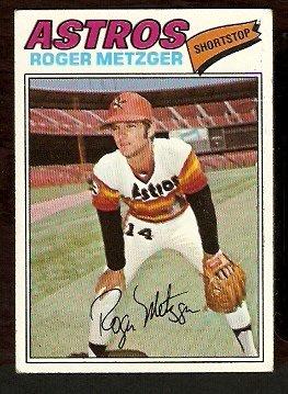 HOUSTON ASTROS ROGER METZGER 1977 TOPPS # 481 VG