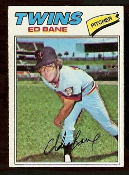 MINNESOTA TWINS ED BANE 1977 TOPPS # 486 VG