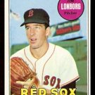BOSTON RED SOX JIM LONBORG 1969 TOPPS # 109 NR MT