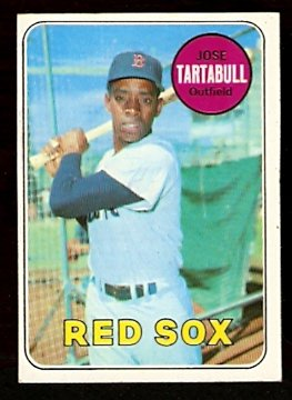 BOSTON RED SOX JOSE TARTABULL 1969 TOPPS # 287 EM+