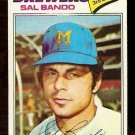 MILWAUKEE BREWERS SAL BANDO 1977 TOPPS # 498