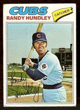 CHICAGO CUBS RANDY HUNDLEY 1977 TOPPS # 502 good