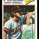 MINNESOTA TWINS JERRY TERRELL 1977 TOPPS # 513 good