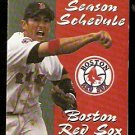 BOSTON RED SOX 1998 POCKET SCHEDULE NOMAR GARCIAPARRA