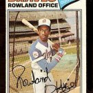 ATLANTA BRAVES ROWLAND OFFICE 1977 TOPPS # 524 good