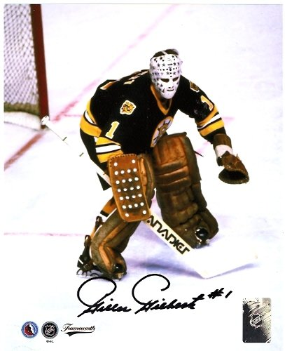 BOSTON BRUINS GILLES GILBERT AUTOGRAPHED 8x10 PHOTO WITH COA