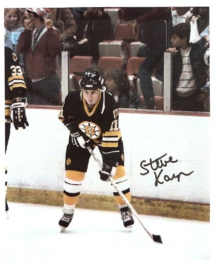 BOSTON BRUINS STEVE KASPER AUTOGRAPHED 8x10 PHOTO