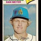 SEATTLE MARINERS DAN MEYER 1977 TOPPS # 527 VG