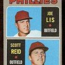 PHILADELPHIA PHILLIES ROOKIE STARS JOE LIS SCOTT REID 1970 TOPPS # 56 EX