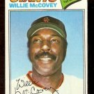 SAN FRANCISCO GIANTS WILLIE McCOVEY 1977 TOPPS # 547 VG/EX