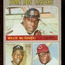 HOME RUN LEADERS GIANTS WILLIE McCOVEY BRAVES HANK AARON REDS LEE MAY 1970 TOPPS # 65 fair