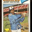 ATLANTA BRAVES JERRY ROYSTER 1977 TOPPS # 549 good