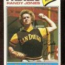 SAN DIEGO PADRES RANDY JONES 1977 TOPPS # 550 G/VG