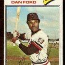 MINNESOTA TWINS DAN FORD 1977 TOPPS # 555 fair