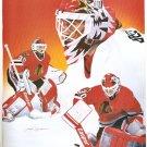 TEAM CANADA BRETT LINDROS CHICAGO BLACK HAWKS ED BELFOUR 1994 PINUP PHOTOS