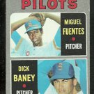 SEATTLE PILOTS ROOKIE STARS MIGUEL FUENTES DICK BANEY 1970 TOPPS # 88 VG+/EX