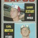 MONTREAL EXPOS ROOKIE STARS CARL MORTON GARRY JESTADT 1970 TOPPS # 109 EX OC
