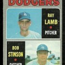 LOS ANGELES DODGERS ROOKIE STARS BOB STINSON RAY LAMB 1970 TOPPS # 131 VG
