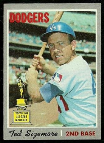 LOS ANGELES DODGERS TED SIZEMORE 1970 TOPPS # 174 EM+/NM
