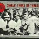 ALCS BALTIMORE ORIOLES CELEBRATE SWEEP TWINS IN 3 1970 TOPPS # 202 VG