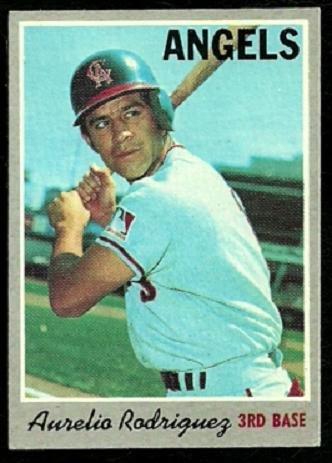 CALIFORNIA ANGELS AURELIO RODRIGUEZ 1970 TOPPS # 228 EX