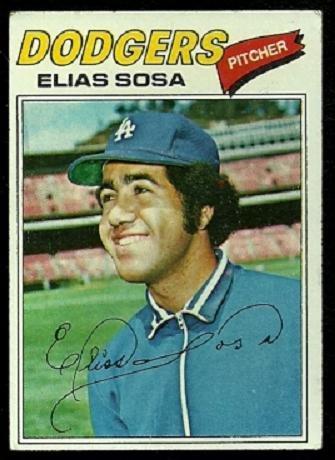 LOS ANGELES DODGERS ELIAS SOSA 1977 TOPPS # 558 VG