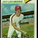 PHILADELPHIA PHILLIES JIM LONBORG 1977 TOPPS # 569 EM/NM
