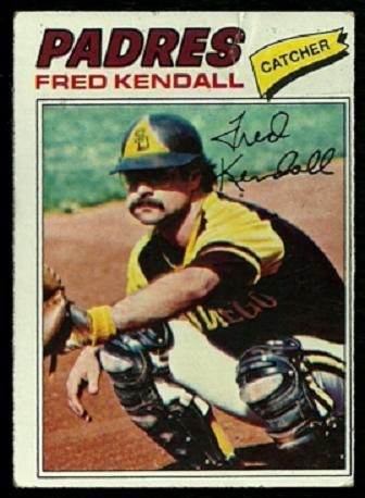 SAN DIEGO PADRES FRED KENDALL 1977 TOPPS # 576 good