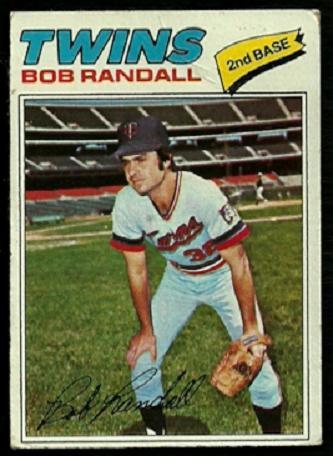 MINNESOTA TWINS BOB RANDALL 1977 TOPPS # 578 VG