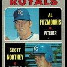 KANSAS CITY ROYALS ROOKIE STARS AL FITZMORRIS SCOTT NORTHEY 1970 TOPPS # 241 good