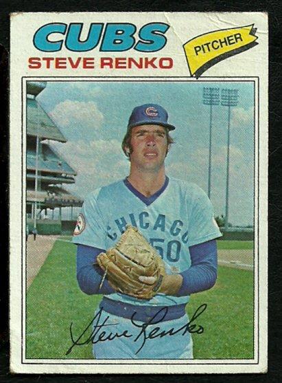 CHICAGO CUBS STEVE RENKO 1977 TOPPS # 586 good