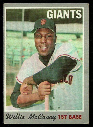 SAN FRANCISCO GIANTS WILLIE McCOVEY 1970 TOPPS # 250 VG