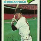 SAN FRANCISCO GIANTS CHRIS ARNOLD 1977 TOPPS # 591