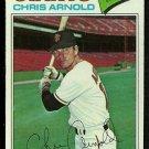 SAN FRANCISCO GIANTS CHRIS ARNOLD 1977 TOPPS # 591
