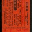 KANSAS CITY ROYALS TEXAS RANGERS 1979 SPRING TRAINING TICKET STUB POMPANO MUNICIPAL STADIUM