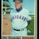 CHICAGO CUBS LEO DUROCHER 1970 TOPPS # 291 EM MC
