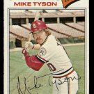ST LOUIS CARDINALS MIKE TYSON 1977 TOPPS # 599 VG