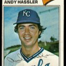 KANSAS CITY ROYALS ANDY HASSLER 1977 TOPPS # 602 good
