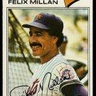 NEW YORK METS FELIX MILLAN 1977 TOPPS # 605 VG