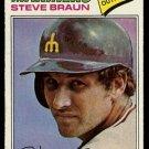 SEATTLE MARINERS STEVE BRAUN 1977 TOPPS # 606 G/VG