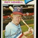 TEXAS RANGERS ROY HOWELL 1977 TOPPS # 608 good