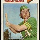 OAKLAND ATHLETICS TOMMY SANDT 1977 TOPPS # 616