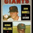 SAN FRANCISCO GIANTS ROOKIE STARS JOHN HARRELL BERNIE WILLIAMS 1970 TOPPS # 401 VG