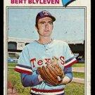TEXAS RANGERS BERT BLYLEVEN 1977 TOPPS # 630 VG