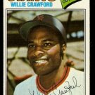 SAN FRANCISCO GIANTS WILLIE CRAWFORD 1977 TOPPS # 642 VG+