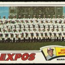 MONTREAL EXPOS TEAM CARD 1977 TOPPS # 647 good marked cl