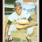 BALTIMORE ORIOLES ELROD HENDRICKS 1970 TOPPS # 528 NR MT